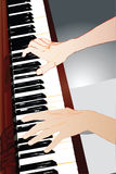 Hands of a pianist. Image of the musician's hand during the concert Royalty Free Stock Images