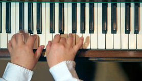 Hands of a pianist Stock Photography