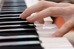 Hands pianist and piano player Royalty Free Stock Images
