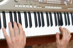 Hands pianist and piano player Royalty Free Stock Photo