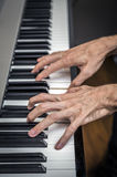 Hands pianist playing Royalty Free Stock Image