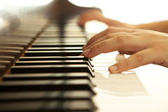 Hands on piano Royalty Free Stock Photo