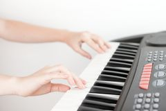 Hands and piano Royalty Free Stock Image
