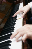 Hands of a piano. Player Royalty Free Stock Photos
