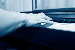 Hands of a piano player Royalty Free Stock Image