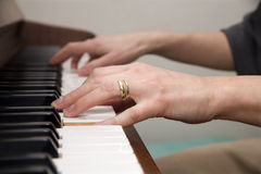 Hands of piano player Royalty Free Stock Image