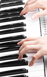 Hands of a piano player Royalty Free Stock Images