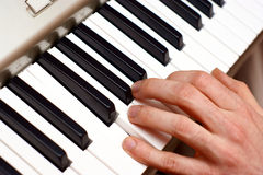 Hands and piano player Stock Photo