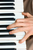 Hands and piano player Stock Image
