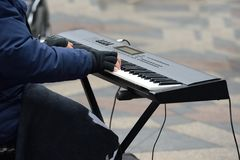Hands of Piano player Royalty Free Stock Photos