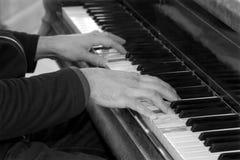 hands pianospelare Royaltyfria Bilder
