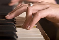 Hands playing Royalty Free Stock Image