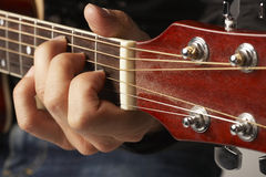 Hands Playing Guitar Royalty Free Stock Photo