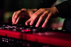 Hands Playing Keyboard Royalty Free Stock Image
