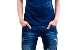 Hands in pocket royalty free stock images