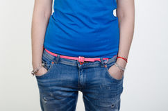 Hands in pockets Royalty Free Stock Photography