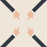 Hands pointer symbol. Forefinger symbol. Stock Image