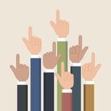 Hands pointer symbol. Forefinger symbol. Stock Photo