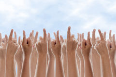 Hands Pointing Royalty Free Stock Images