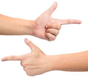 Hands pointing Royalty Free Stock Image