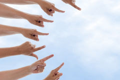 Hands Pointing right Royalty Free Stock Photos