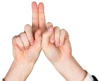 Hands pointing up Royalty Free Stock Photo