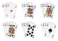 hands poker Arkivfoton