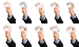 The hands of poker, ranking Stock Photos