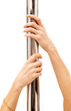 Hands and pole Royalty Free Stock Image