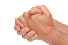 Hands in a position of praying Stock Photo