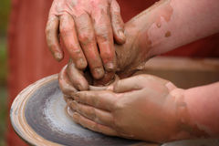 Hands of a potter, Royalty Free Stock Photos