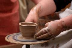Hands of a potter, Royalty Free Stock Image