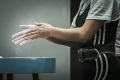 Hands powerlifting Royalty Free Stock Photography