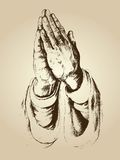 Hands pray with faith full Royalty Free Stock Photos