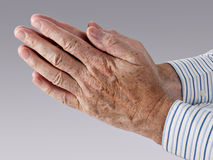 Hands in prayer Stock Image