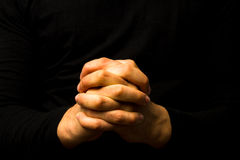Hands in prayer Royalty Free Stock Image