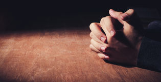 Hands Of Praying Royalty Free Stock Photos