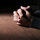Hands Of Praying royalty free stock images