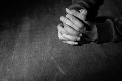 Hands Of Praying stock images