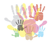 Hands print background. Illustration design Royalty Free Stock Photos