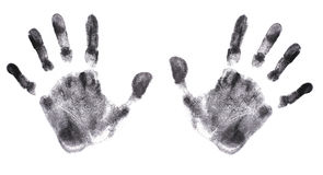 Hands Print (very detailed) Stock Photo