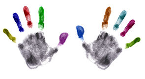 Hands Print (very detailed) Royalty Free Stock Photo