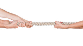 Hands pull a rope. Stock Photography