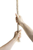 Hands Pulling The Rope Stock Photography