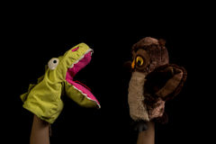 Hands with puppets Stock Image