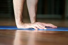 Hands push-up royalty free stock images