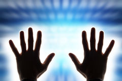 Hands radiating energy Royalty Free Stock Photography