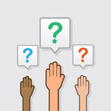 Hands Raised Question Royalty Free Stock Image
