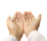 Hands raised up for praying Royalty Free Stock Images