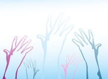 Hands reach up Royalty Free Stock Image
